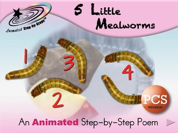 5 Little Mealworms - Animated Step-by-Step Poem - PCS