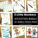 5 Little Monkeys | Autism SPED Preschool Prek | Activities Bundle