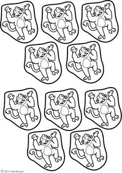 5 Little Monkeys Coloring sheet