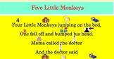 5 Little Monkeys Decodable Text: SmartBoard Activity