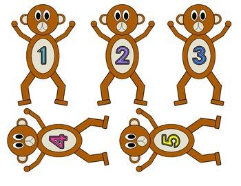 5 Little Monkeys Display and Activities/Teachers Aid/Homeschool Pack