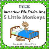 FREE 5 Little Monkeys Interactive Song Speech Therapy