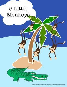 5 Little Monkeys Freebie