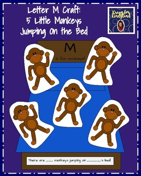 Letter M Craft: 5 Little Monkeys Jumping On the Bed