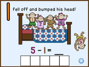 5 Little Monkeys Jumping on the Bed Promethean Board ActivInspire Flipchart