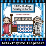 5 Little Monkeys Jumping on the Bed: Promethean Board ActivInspire Flipchart
