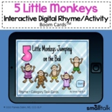 5 Little Monkeys Jumping on the Bed - BOOM CARDS™ Song +
