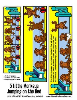 5 Little Monkeys Jumping on the Bed Flip Booklet