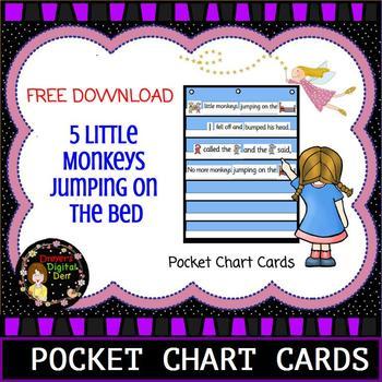 5 Little Monkeys Pocket Chart Activity