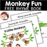 5 Little Monkeys  | SPED Autism Preschool PreK | Nursery Rhyme Book