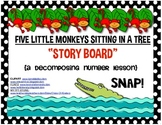 5 Little Monkeys Sitting in a Tree (Storyboard) Math: Decomposing Number Lesson