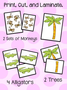 5 Little Monkeys Swinging in a Tree - Song Pieces