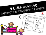 5 Little Monkeys- Subtraction PowerPoint and Worksheet