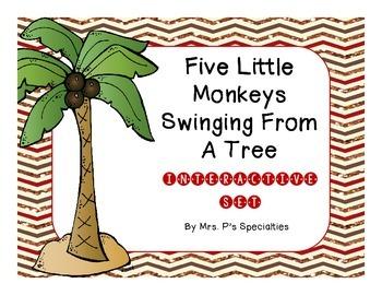 5 Little Monkeys Swinging From A Tree Interactive Set
