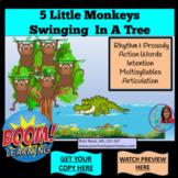 5 Little Monkeys Swinging In A Tree BOOM CARDS