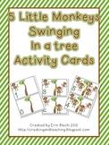 5 Little Monkeys Swinging in a Tree Activity Cards