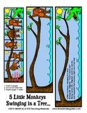 5 Little Monkeys Swinging in a Tree Flip Booklet