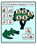 5 Little Monkeys Swinging in the Tree - Adapted Song