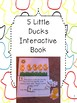 5 Little Monkeys and 5 Little Ducks Interactive Pages and Emergent Readers