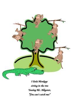 5 Little Monkeys class book
