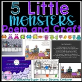 5 Little Monsters Poem and Craft