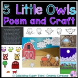 5 Little Owls Poem and Craft