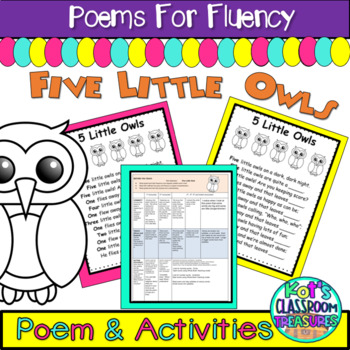 5 Little Owls shared reading weekly plan