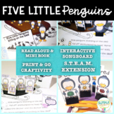 Five Little Penguins - STEAM & Literacy Based Speech Therapy Activities