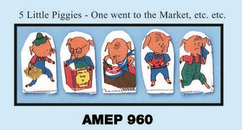 5 Little Piggies Finger PUPPET SET