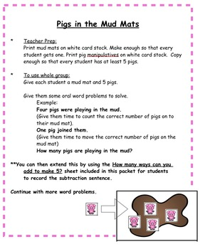 Addition - 5 Little Pigs (Addition Rhyming Tab Book)