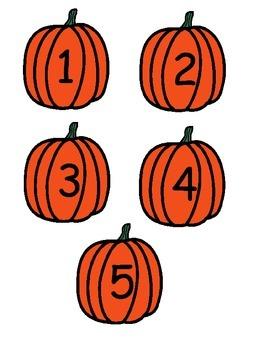 5 Little Pumpkins--$1 Dollar Sale