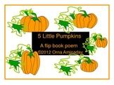 5 Little Pumpkins-A flip book poem