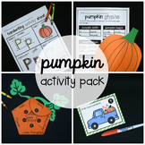 Pumpkin Activity Packet - Preschool and Kindergarten