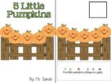 5 Little Pumpkins Adapted Book