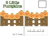 5 Little Pumpkins Adapted Book