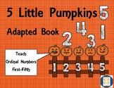 5 Little Pumpkins Adapted Book, Autism, Speech and Language