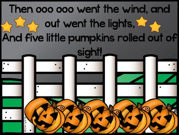 5 Little Pumpkins Book and Re-tell Pieces