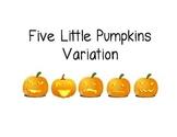 5 Little Pumpkins Class Book
