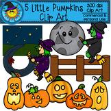 5 Little Pumpkins Clip Art