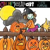 5 Little Pumpkins Clip Art (Oh Hey ELA Art)