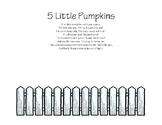 5 Little Pumpkins Coloring Activity