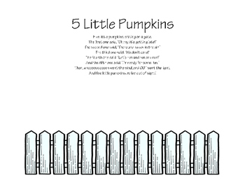 5 Little Pumpkins Coloring Activity