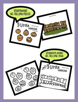 5 Little Pumpkins: Story Book and Activities