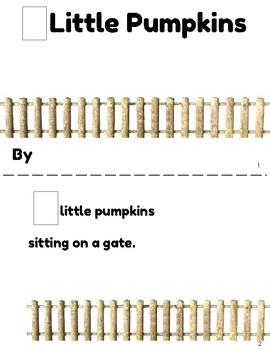 5 Little Pumpkins Make and Take Home Book