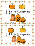 5 Little Pumpkins Math Emergent Reader (Subitizing to 5) a