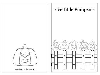 5 Little Pumpkins Mini-Book