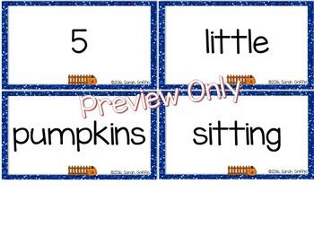 Build a Poem ~ 5 Little Pumpkins