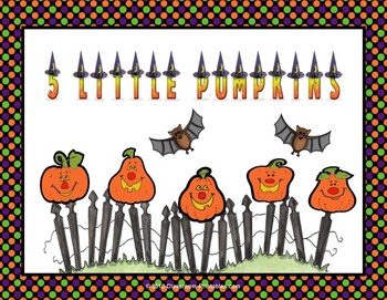 5 Little Pumpkins Printable Book & Flannelboard Revised