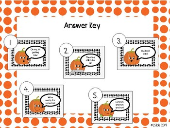 5 Little Pumpkins Sequencing Activity