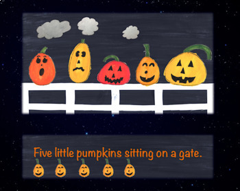 5 Little Pumpkins Sitting on a Gate, Animated!